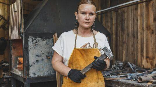 A female Blacksmith